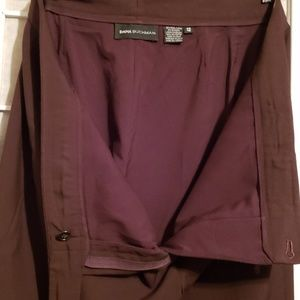Dana Buchman Pants - DANA BUCHMAN WOOL CUFF DRESS PANTS BROWN SZ 12